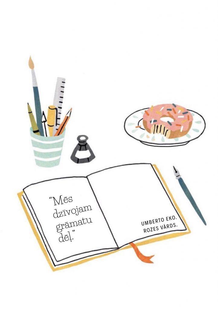 Mēs dzīvojam grāmatu dēļ. Umberto Eko. Rozes vārds.